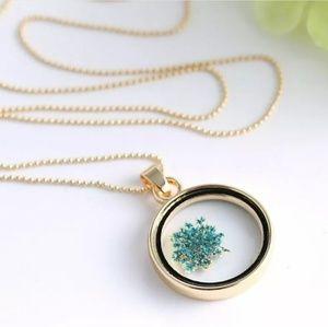 DRIED FLOWER LOCKET Necklace